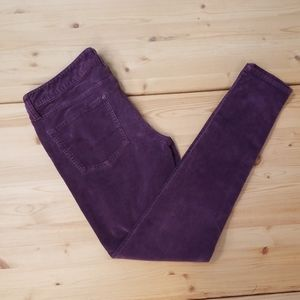 American Eagle Outfitters purple skinny corduroy